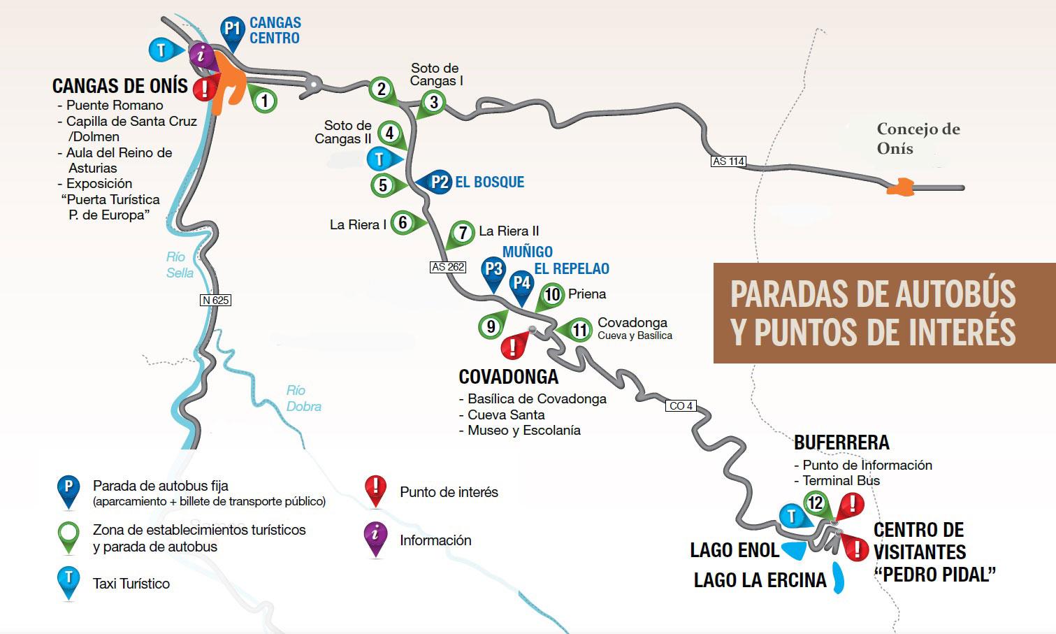 Informaci n de acceso a los lagos de covadonga en verano for Oficina turismo cangas de onis
